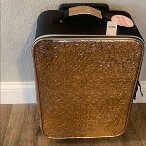 Carry on luggage- rose gold! Justice brand! NEW